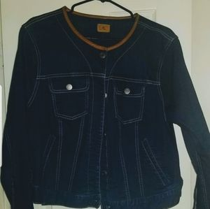 Ralph Lauren Leather Trim Denim Jacket